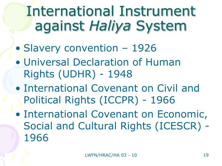 International Instrument against