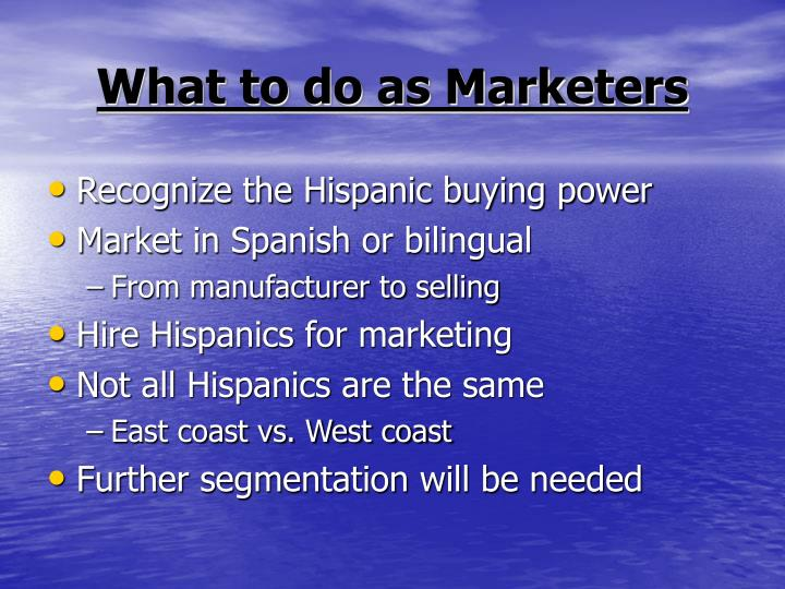 What to do as Marketers