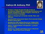 kathryn m anthony phd