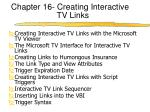 chapter 16 creating interactive tv links