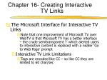 chapter 16 creating interactive tv links2