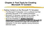 chapter 4 fast track for creating microsoft tv content8