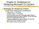chapter 5 guidelines for designing microsoft tv content3