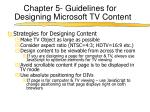 chapter 5 guidelines for designing microsoft tv content4
