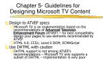 chapter 5 guidelines for designing microsoft tv content6