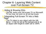 chapter 6 layering web content over full screen tv3