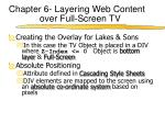 chapter 6 layering web content over full screen tv5