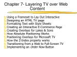 chapter 7 layering tv over web content
