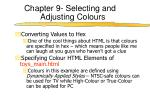 chapter 9 selecting and adjusting colours4