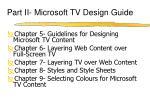 part ii microsoft tv design guide
