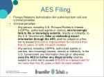 aes filing30