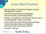 export best practices
