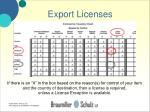 export licenses23