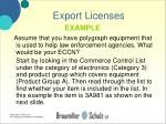 export licenses24