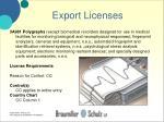 export licenses25