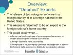 overview deemed exports