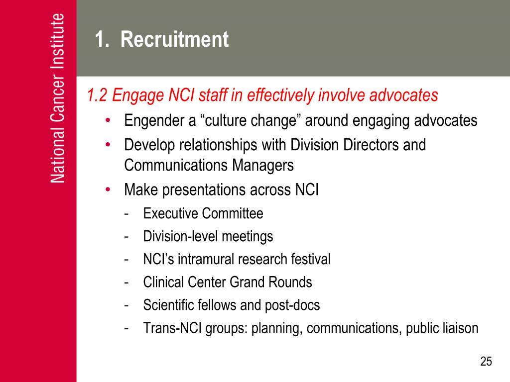 1.  Recruitment