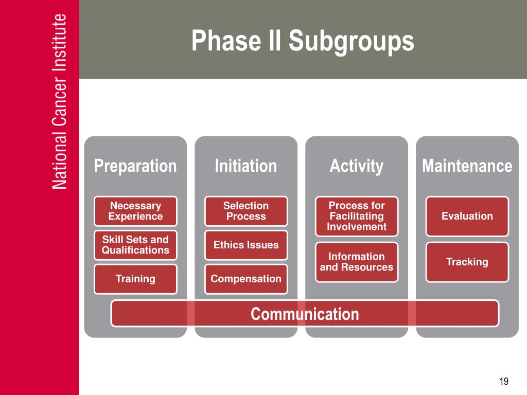 Phase II Subgroups