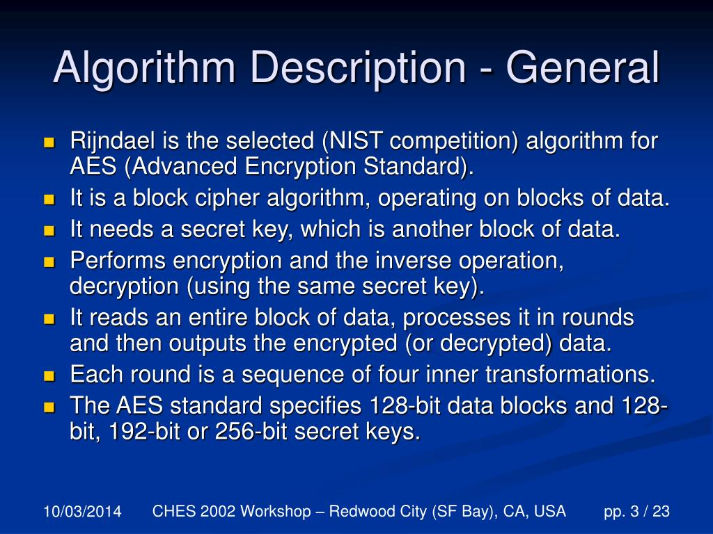 Algorithm Description - General