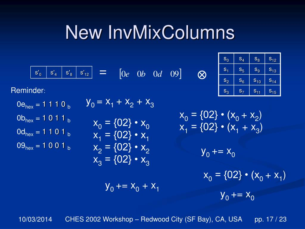 New InvMixColumns