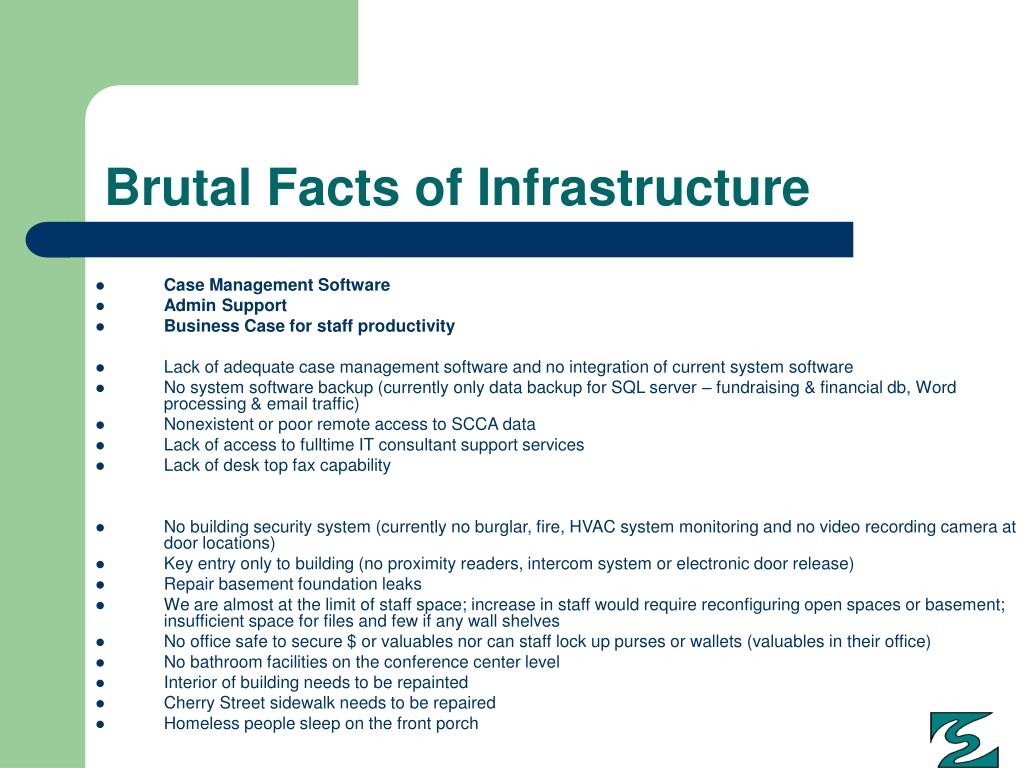 Brutal Facts of Infrastructure