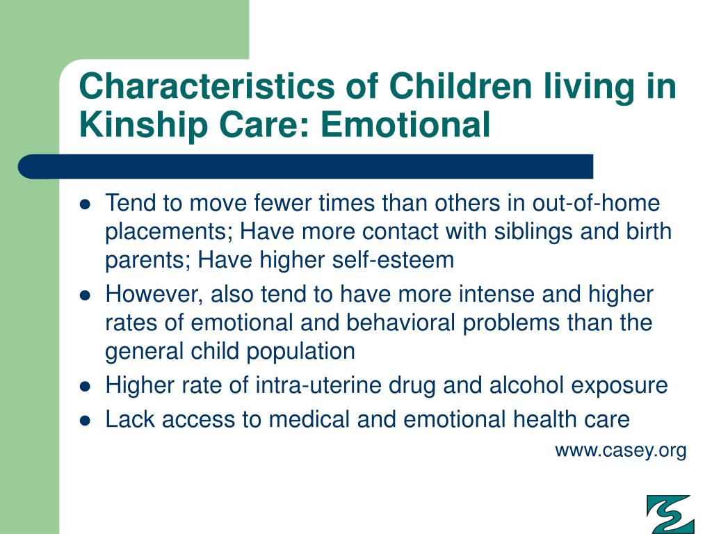 Characteristics of Children living in Kinship Care: Emotional