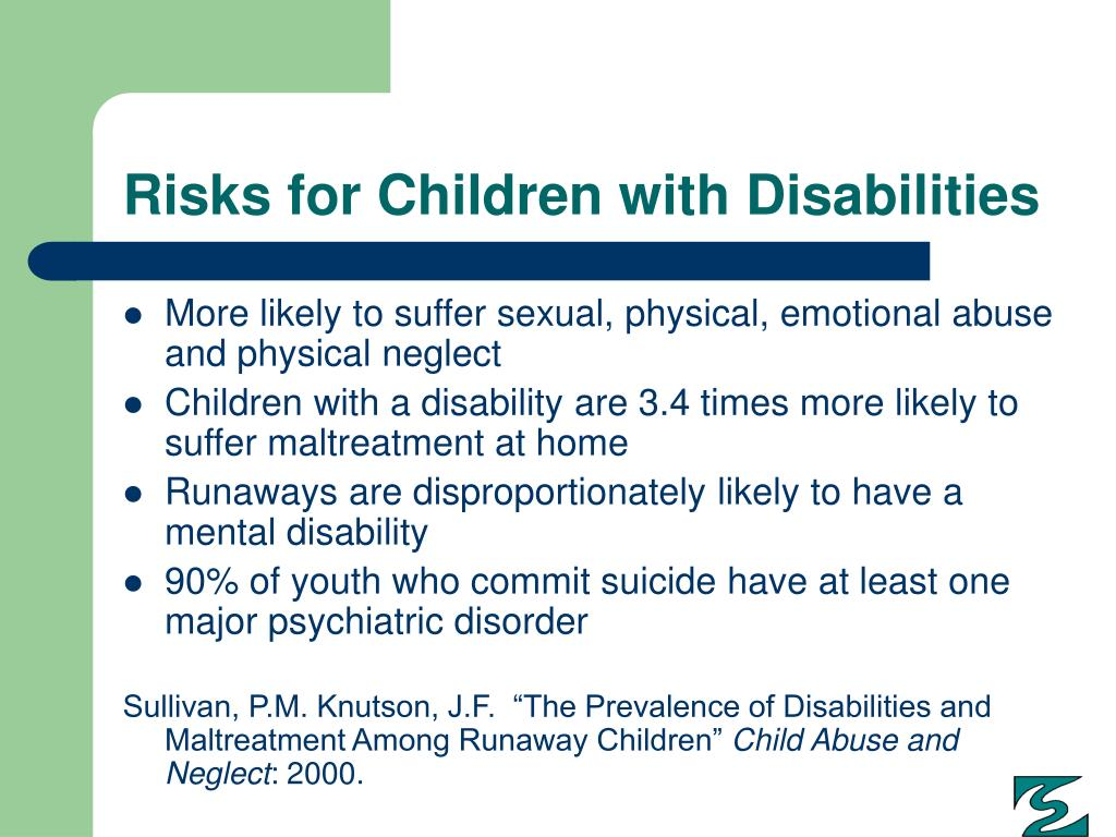 Risks for Children with Disabilities
