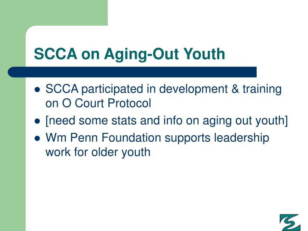 SCCA on Aging-Out Youth