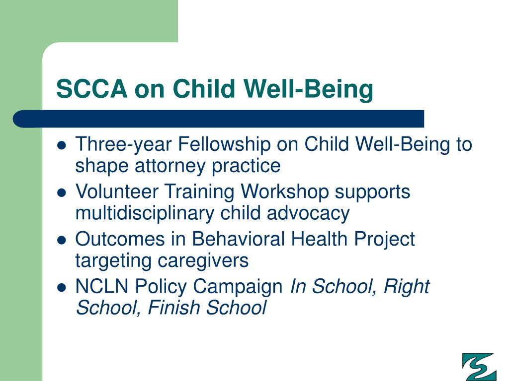 SCCA on Child Well-Being