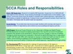 scca roles and responsibilities88