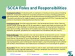 scca roles and responsibilities89
