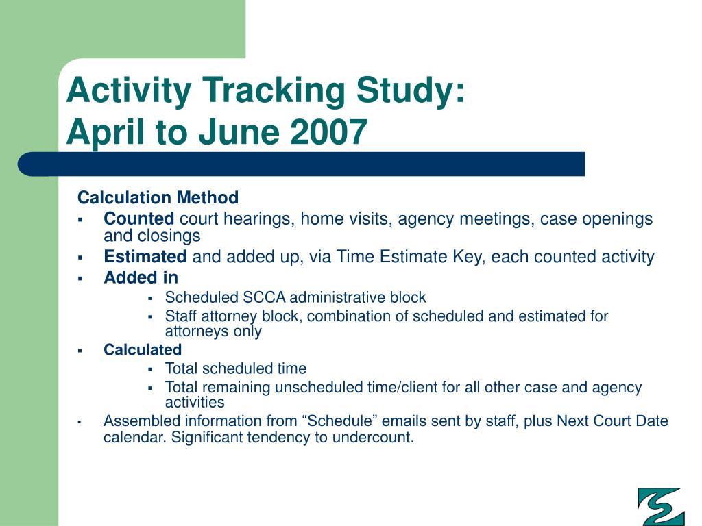 Activity Tracking Study: