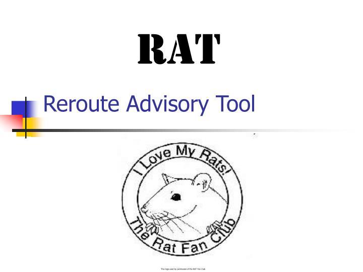 reroute advisory tool
