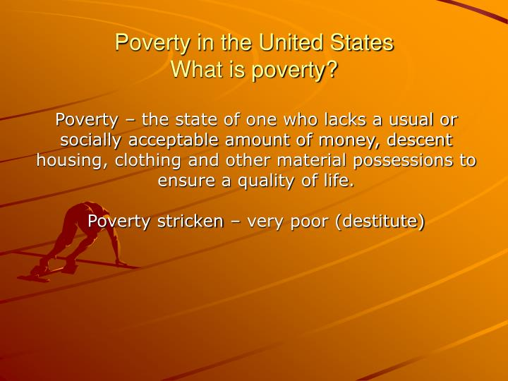 Poverty in the united states what is poverty