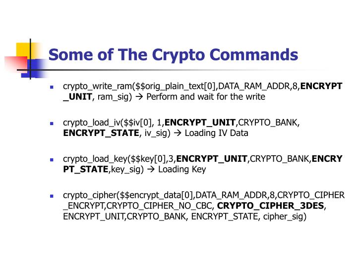 Some of The Crypto Commands