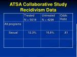 atsa collaborative study recidivism data96