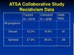 atsa collaborative study recidivism data97