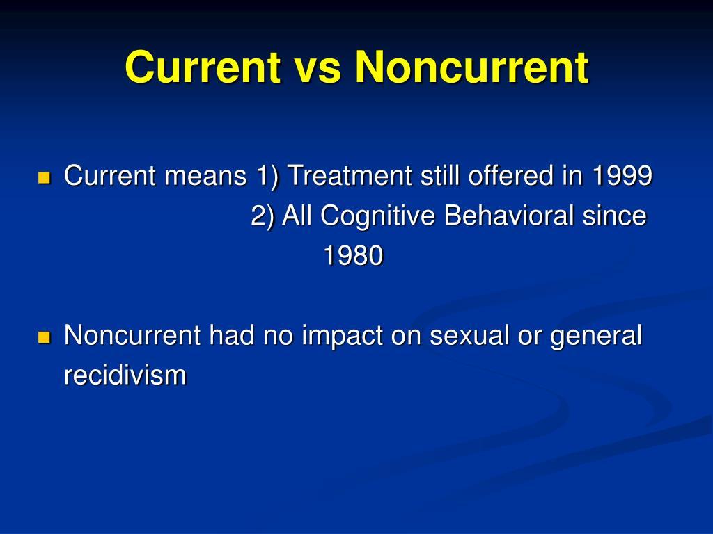 Current vs Noncurrent