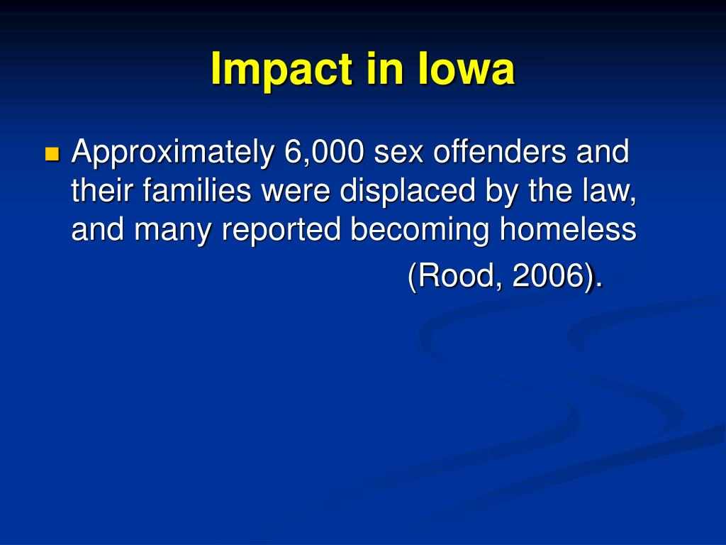 Impact in Iowa