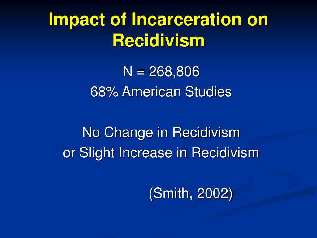 Impact of Incarceration on Recidivism