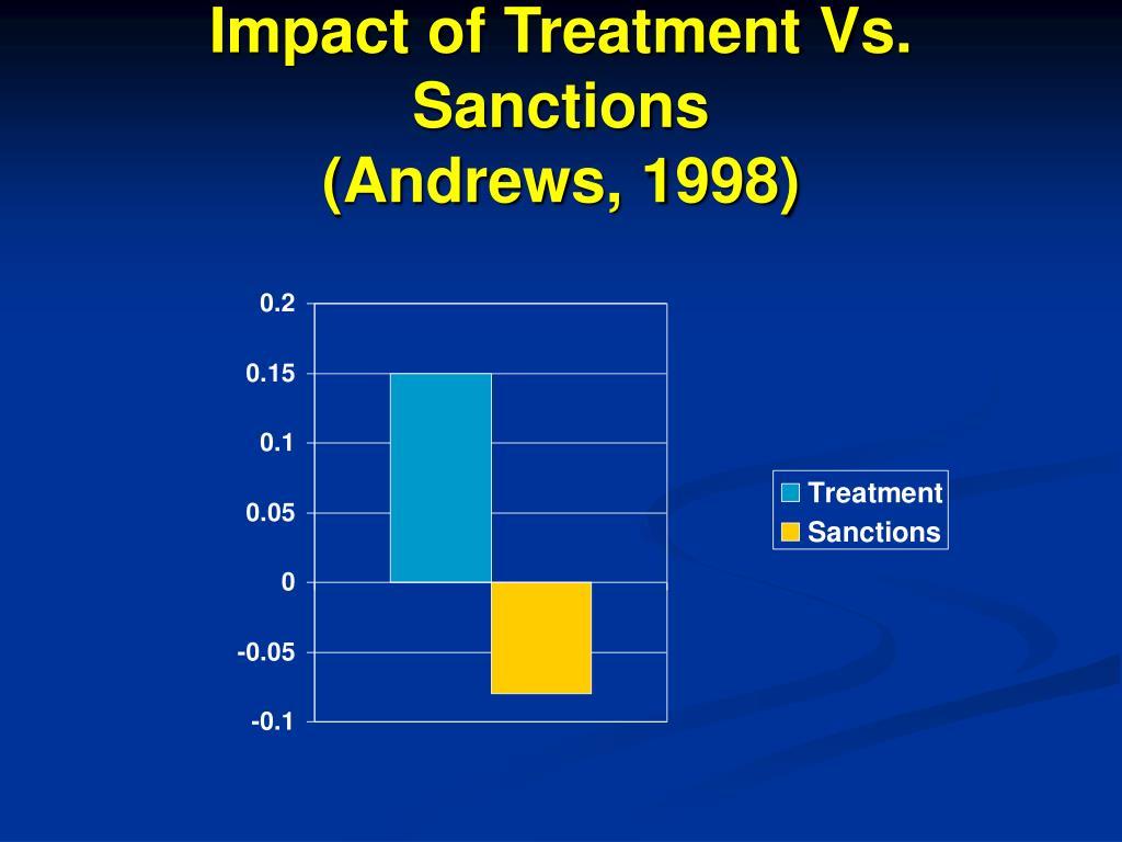 Impact of Treatment Vs. Sanctions