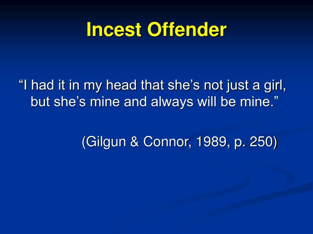Incest Offender