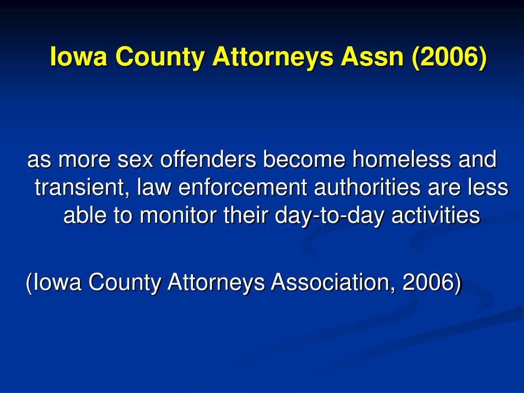 Iowa County Attorneys Assn (2006)