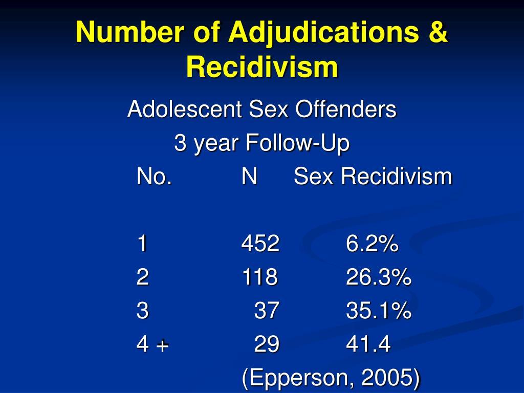 Number of Adjudications & Recidivism