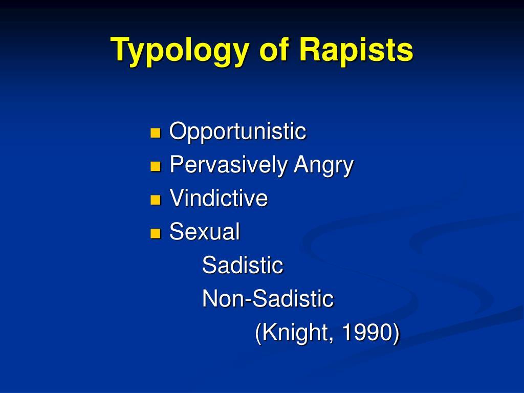 Typology of Rapists