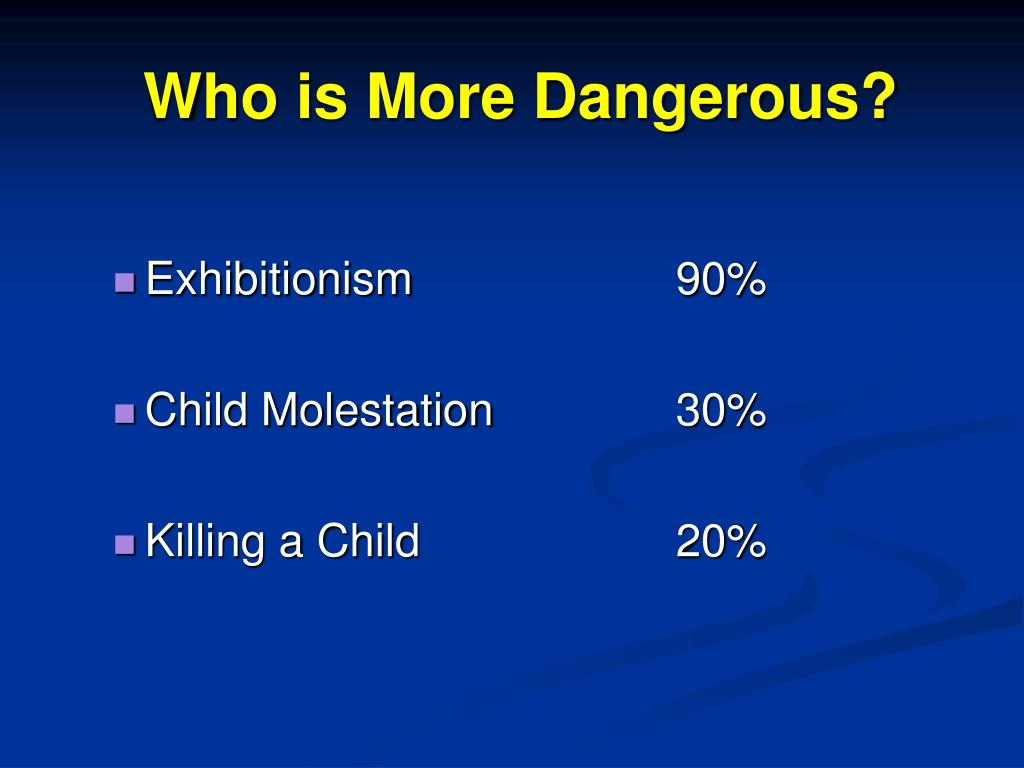 Who is More Dangerous?