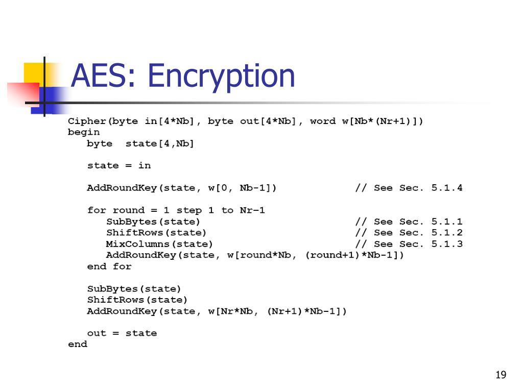 AES: Encryption