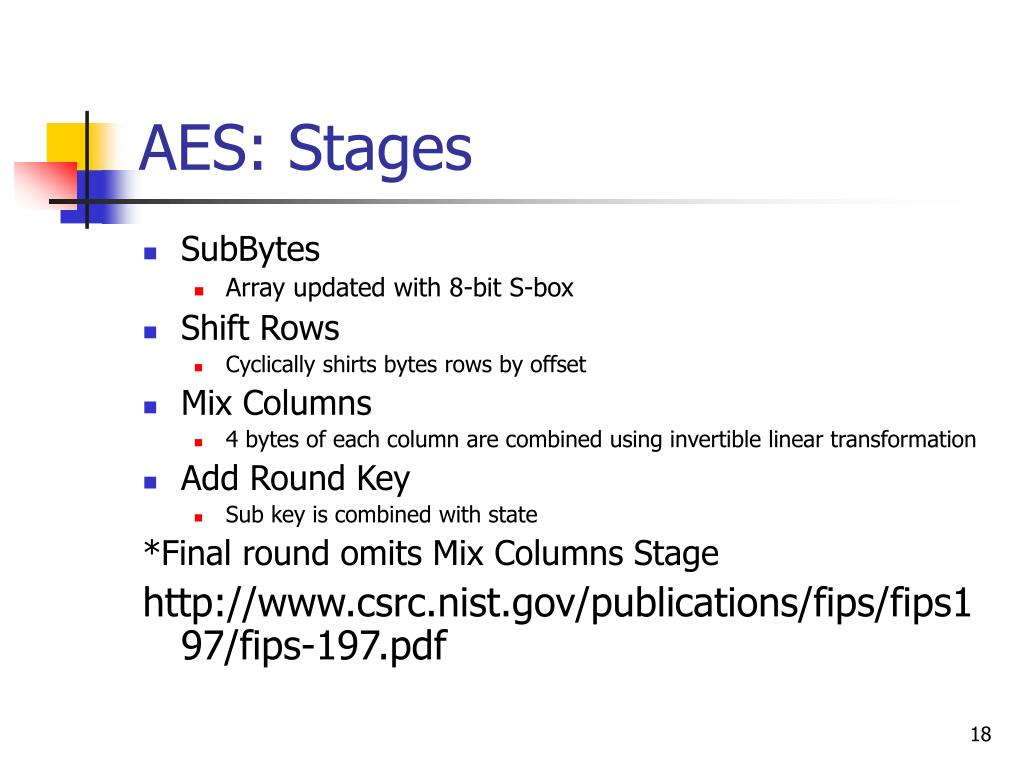 AES: Stages