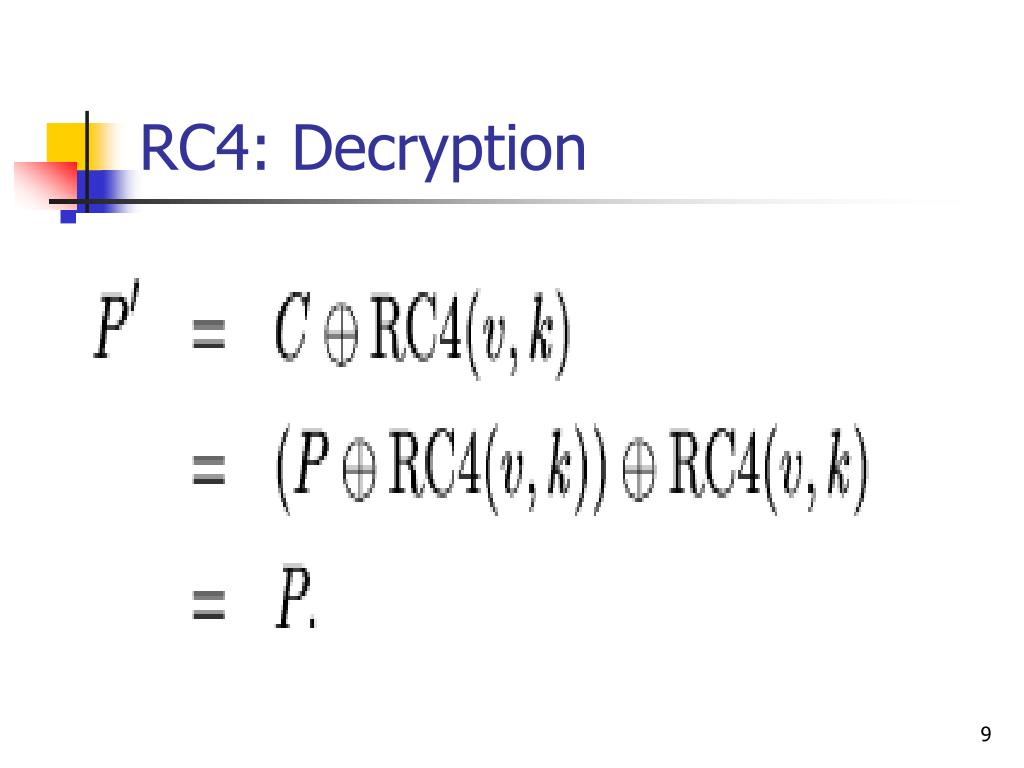 RC4: Decryption