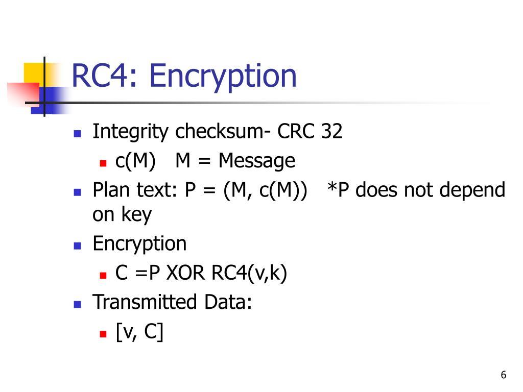RC4: Encryption